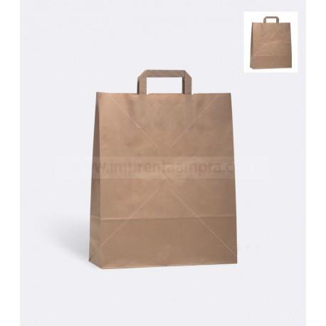 Bolsas de papel kraft asa plana