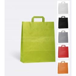 Bolsas de papel de colores asa plana