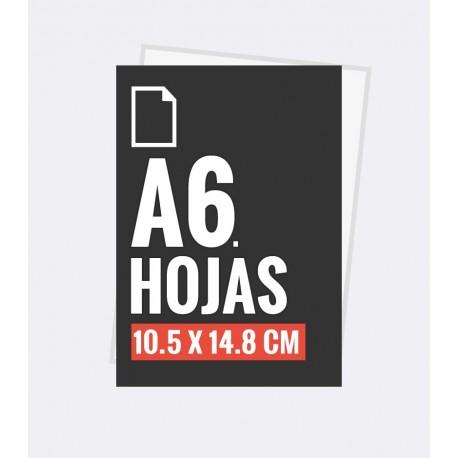 Hojas carta A6