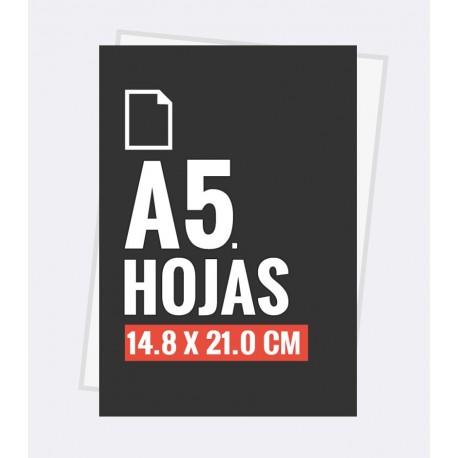 Hojas carta A5