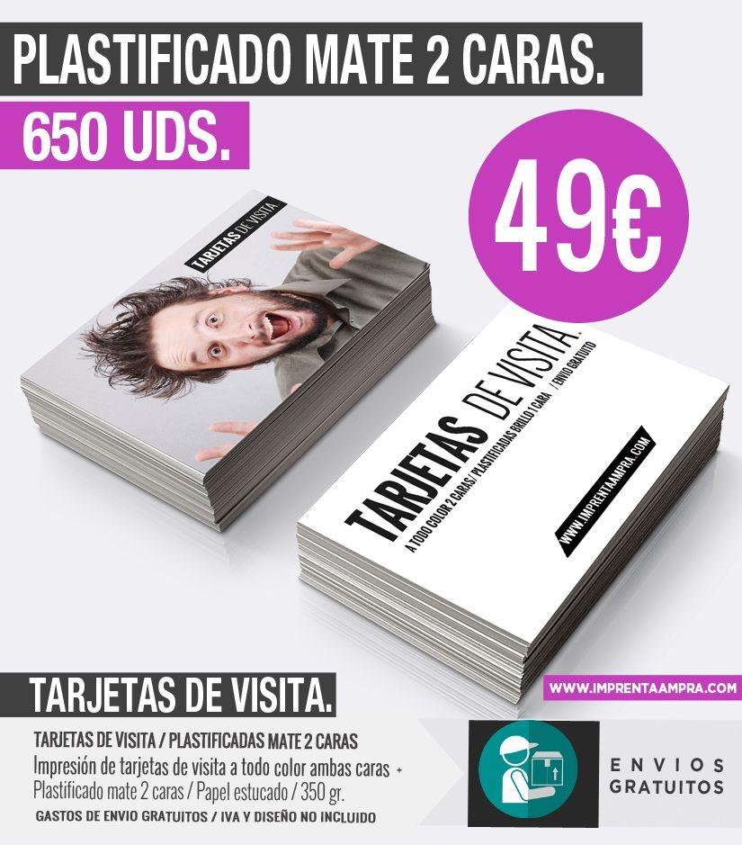 c6213234f0e20 Oferta tarjetas de visita plastificadas mate.