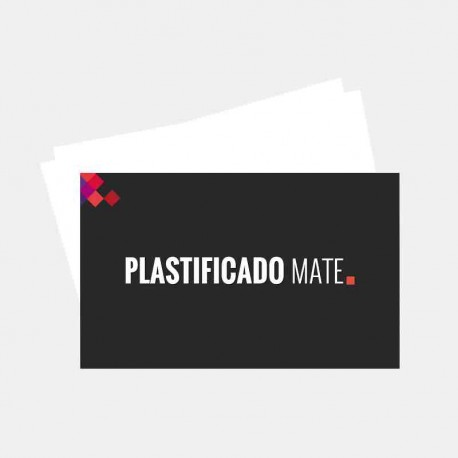 Plastificado Mate 2 caras