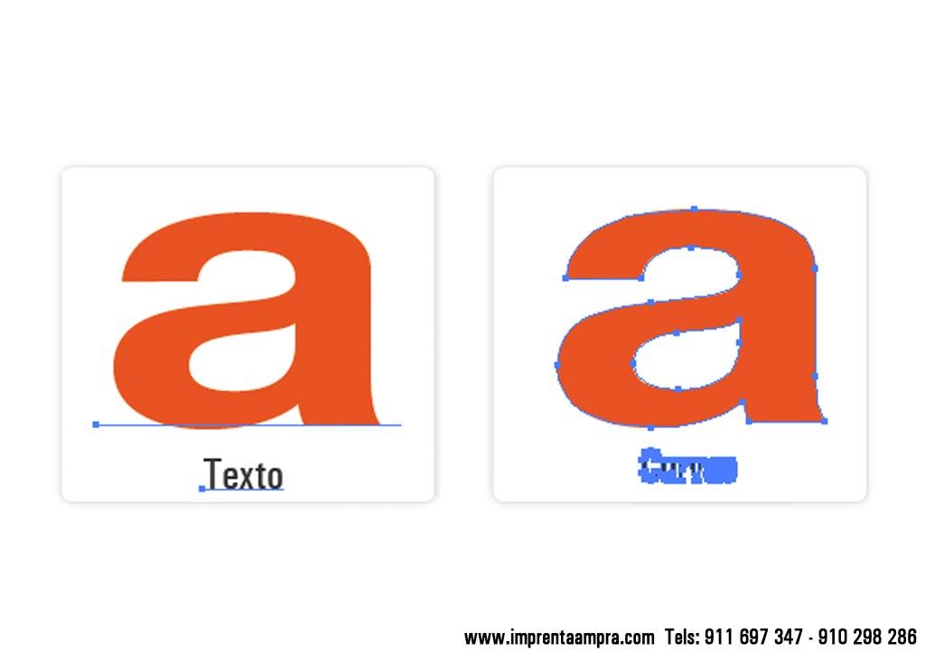 textos y tipografias vectorizados para imprenta